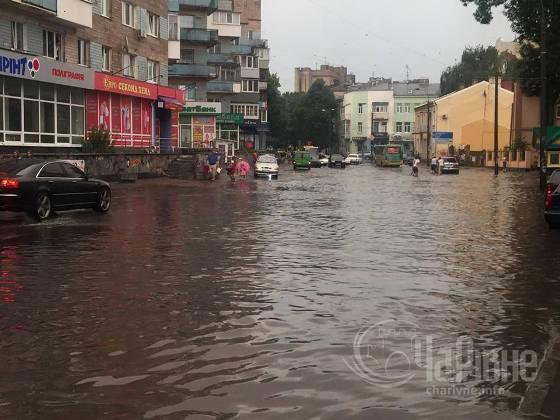 Негода вирувала у Рівному / фото charivne.info