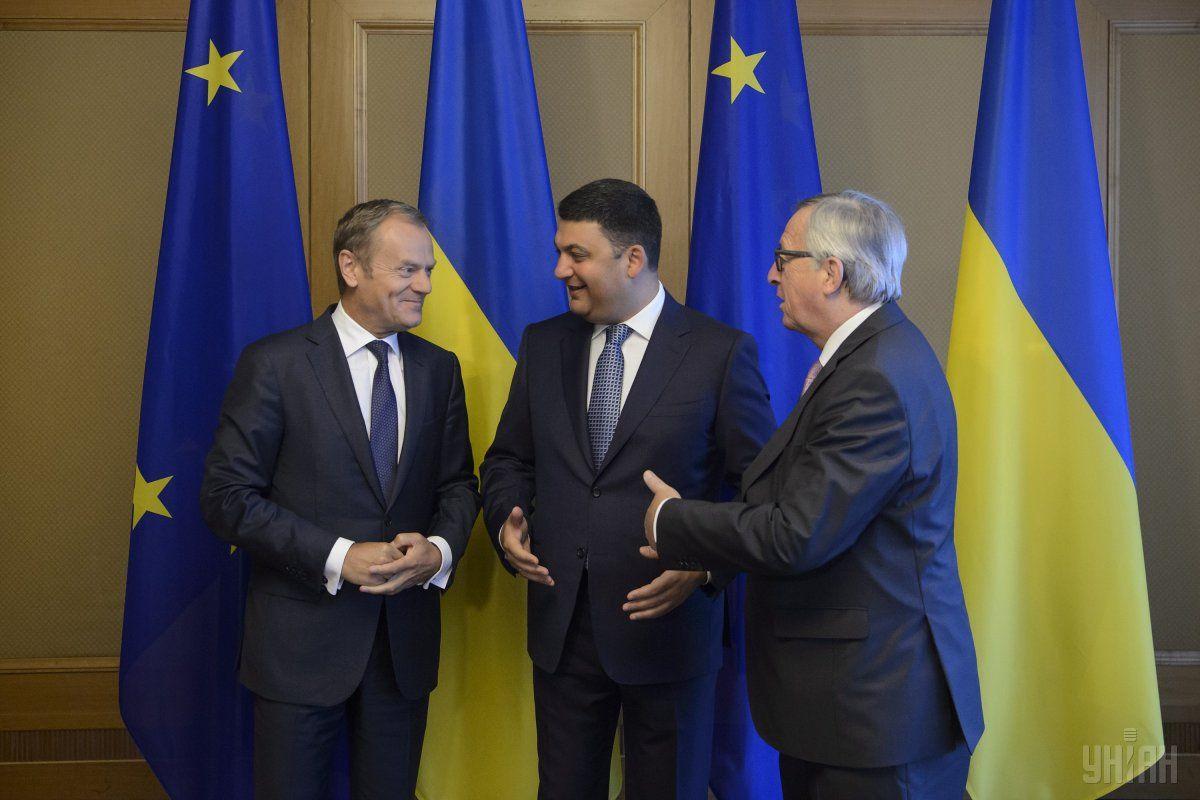 Стало відомо, про щоговорили Юнкер і Туск насаміті Україна-ЄС