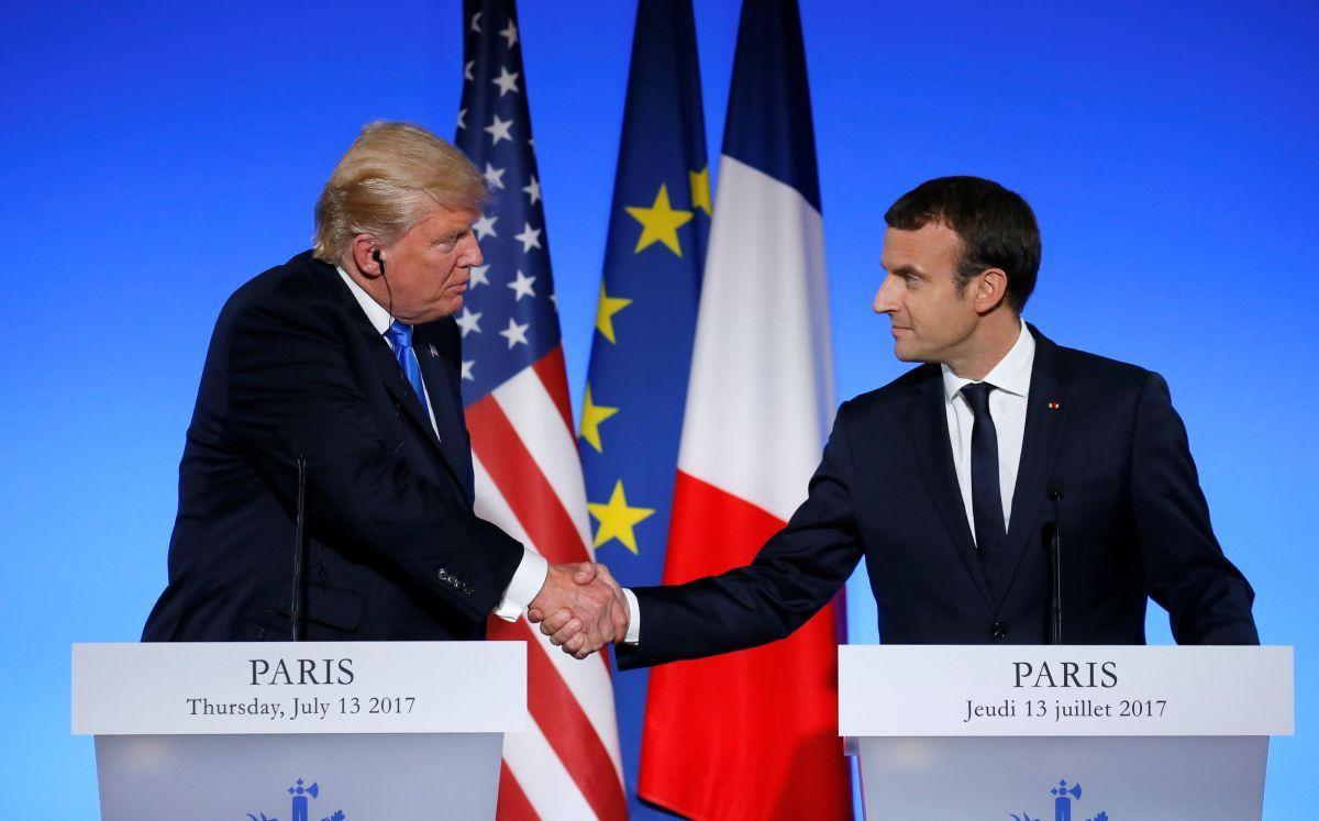 Президенти Франції Еммануель Макрон і США Дональд Трамп / REUTERS