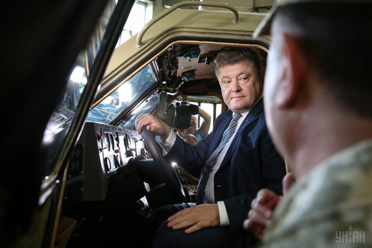 Порошенко відвідав Львівський бронетанковий завод / фото УНІАН