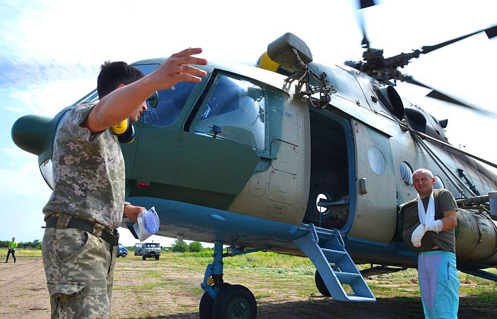 Военных эвакуировали до Днепра / facebook.com/ato.news