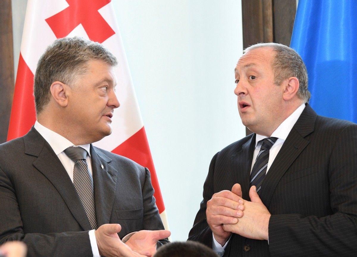 Президент Украины Петр Порошенко и грузинский лидер Георгий Маргвелашвили / REUTERS