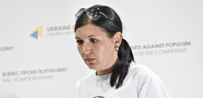 Юлия Коренькова, жена Александра Коренькова  / фото uacrisis.org