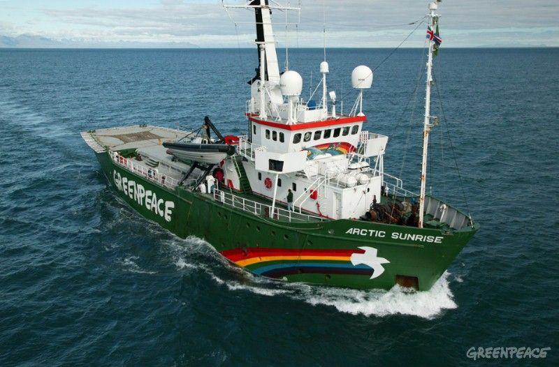 Арештоване судно організації / фото Greenpeace USA
