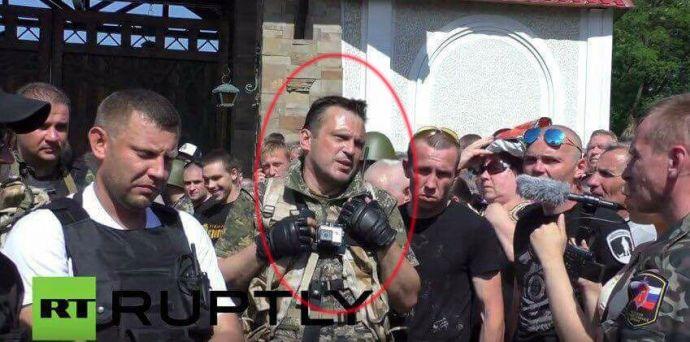 Pogodin's detention in Crimea / Screenshot from RT
