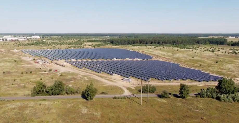Електростанція запрацювала біля селища Велика Димерка / facebook.com/pg/sdelanoVukraine