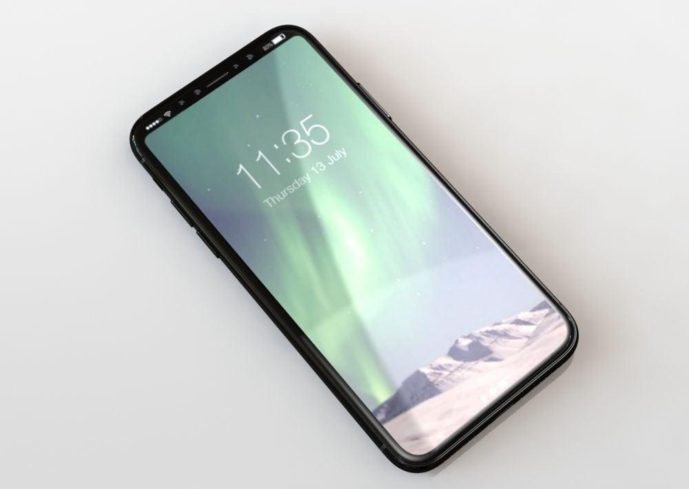iPhone 8 должен получить новый дизайн с безрамочным 5,8-дюймовым экраном