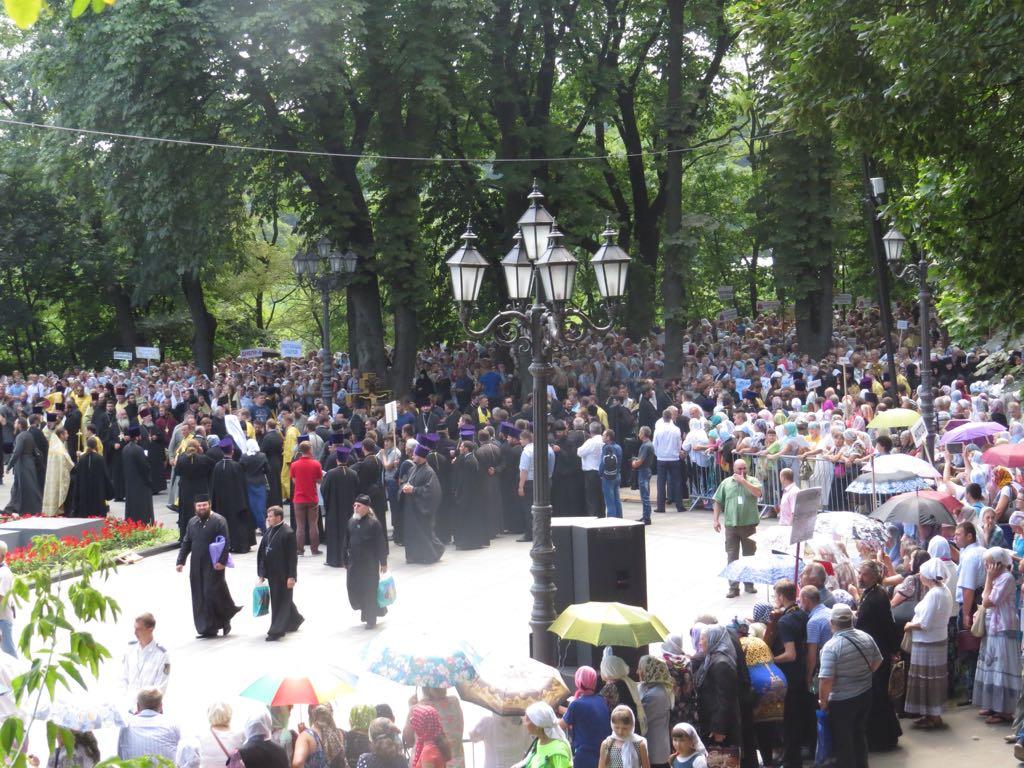 День хрещення Русі: вцентрі Києва зібралися 10 тисяч віруючих