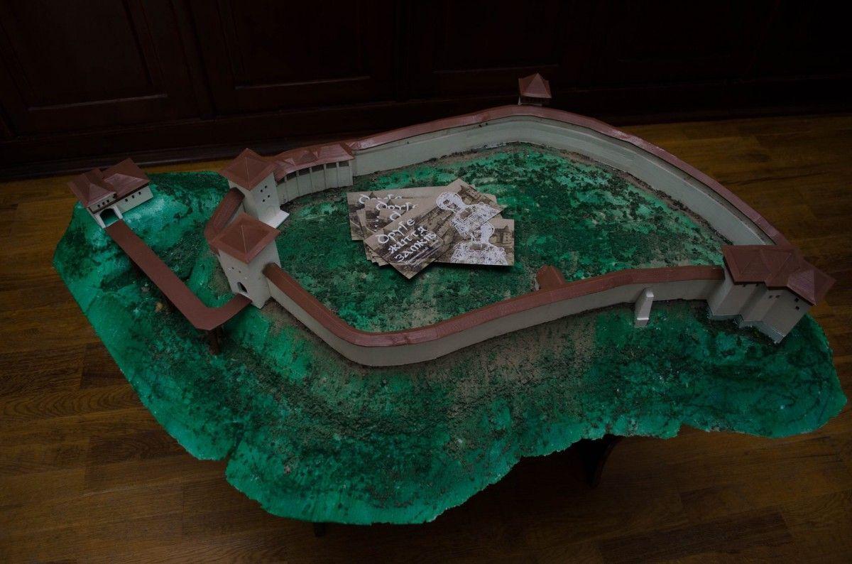 Виготовлений макет замку у Кременці на горі Бона / фото прес-служба тода