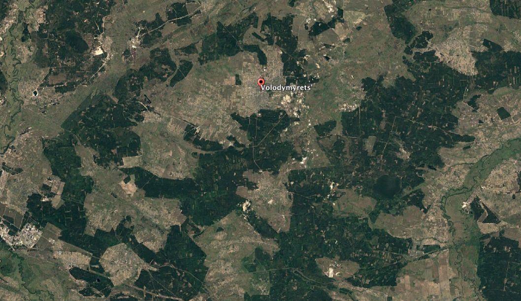 По объему незаконных вырубок леса в первом полугодии 2017 года лидирует Ривненская область / фото Google Earth