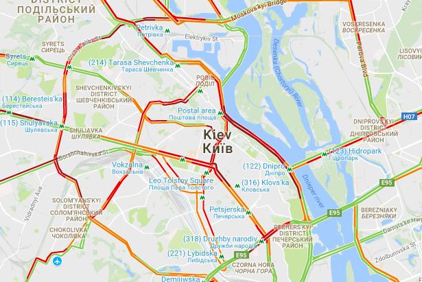 Пробки в Києві / infoportal.kiev.ua