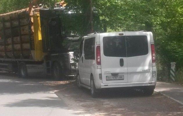 Київщина. Як вивозять незаконно вирубаний ліс із Пуща-Водиці
