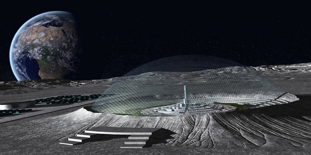 На Луне собираются обустроить космическую базу / скриншот УНИАН