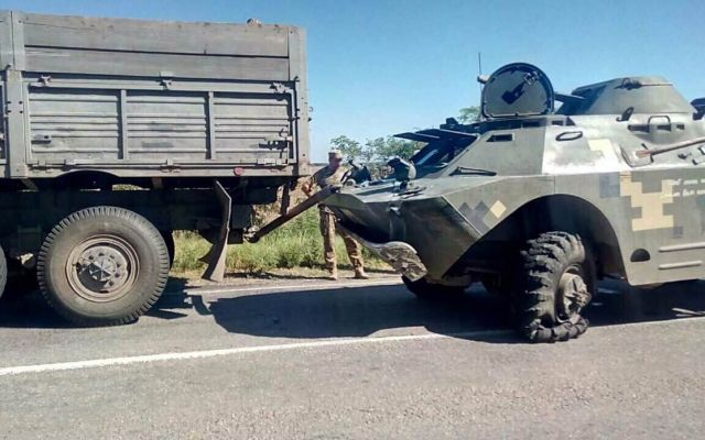 УХерсонській області сталося ДТП заучастю військової техніки
