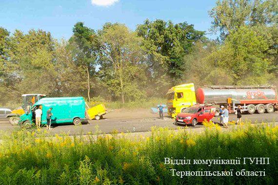 На відрізку дороги йшов ремонт \ ГУ НП Тернопільської області