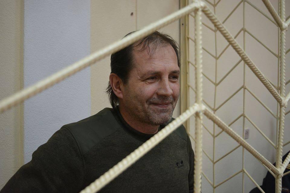 Український активіст Володимир Балух продовжує свій протест, хоча адміністрація СІЗО його голодування не враховує / фото @crimeahrg