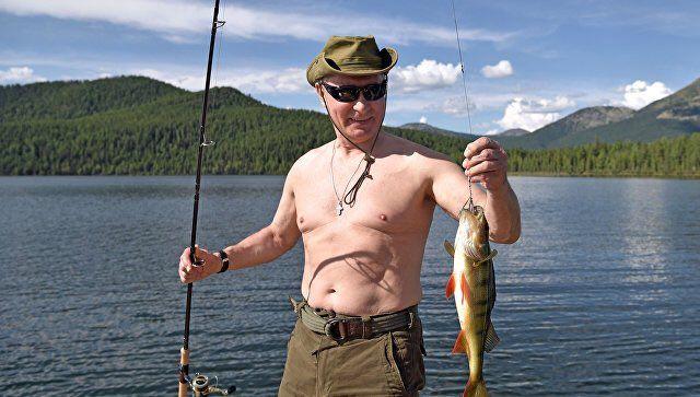 Размещена  полная версия видео отдыха В. Путина  вСибири