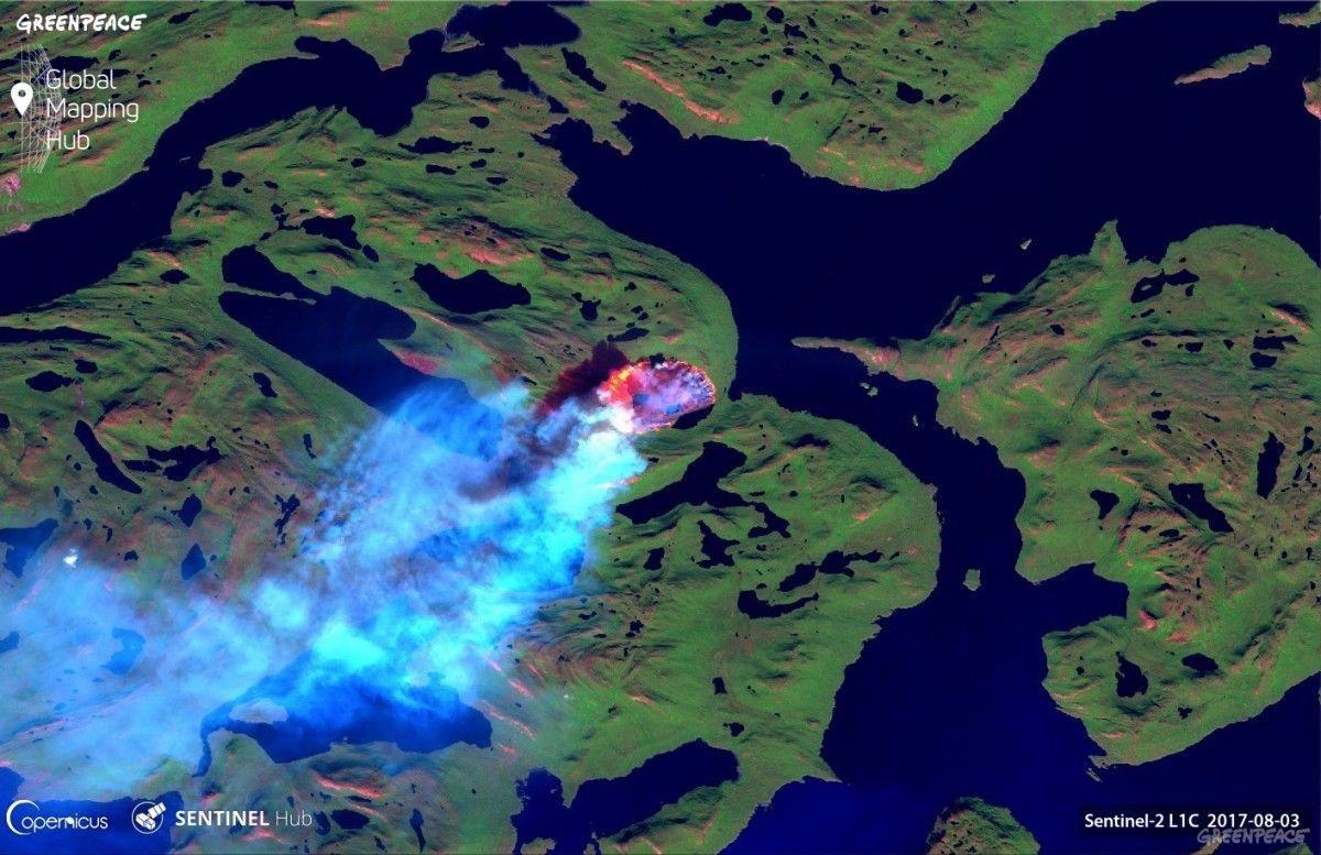У Гренландії горить тундра / фото greenpeace.org