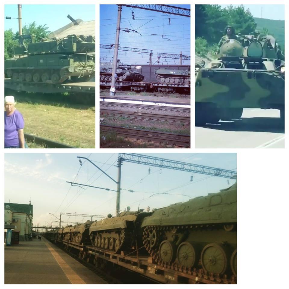Пересування російської військової техніки / фото facebook.com/andriy.tsaplienko