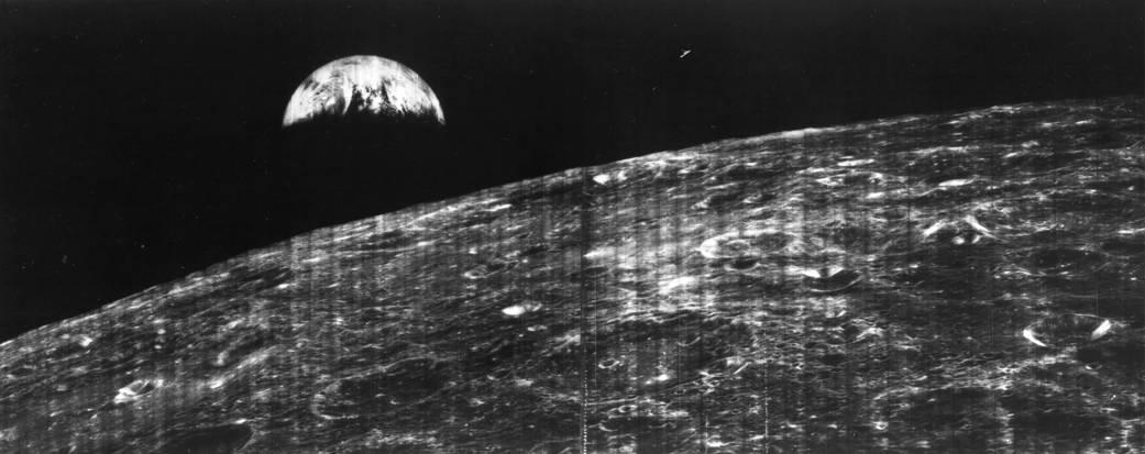 Первая фотография Земли с Луны / фото nasa.gov