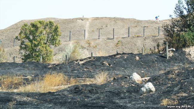 У Керчі пожежі происодят регулярно з-за великої кількості сухої трави / Крим.Реалії
