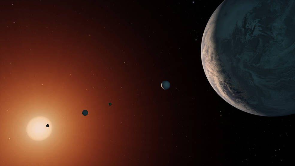 Все семь планет в системе вероятно привязаны к своей звезды