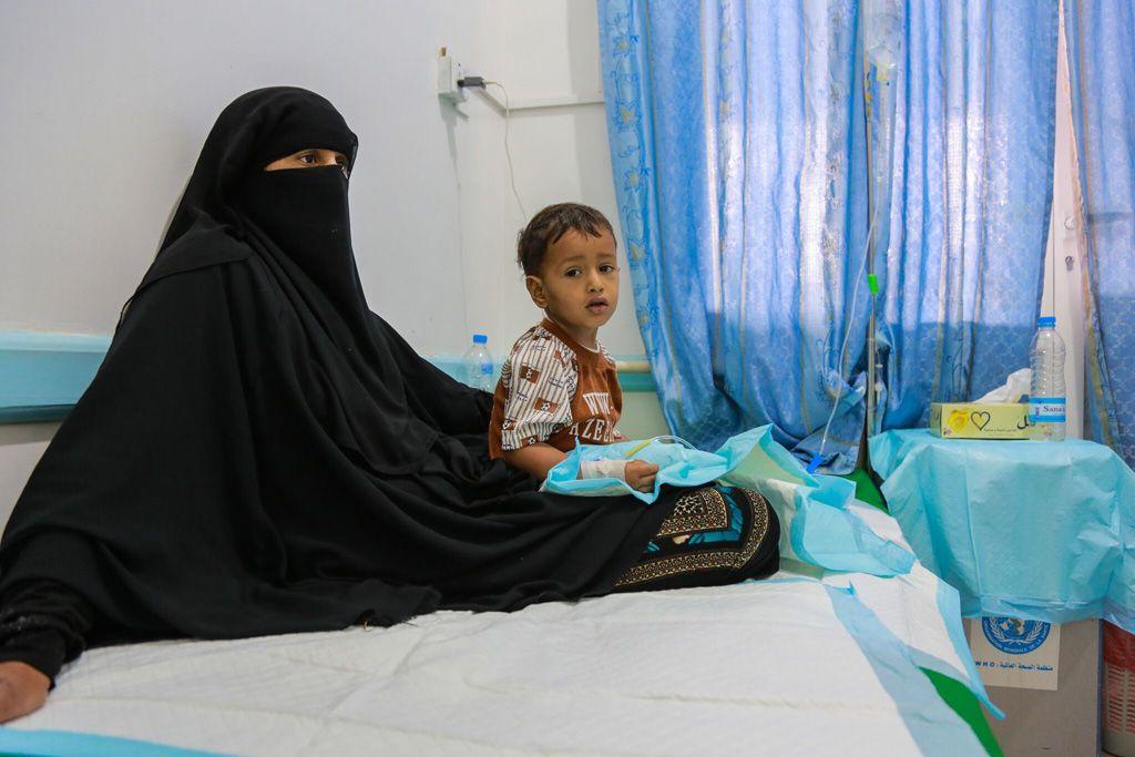 Ребенок в больнице в Сане, Йемен / Фото ЮНИСЕФ