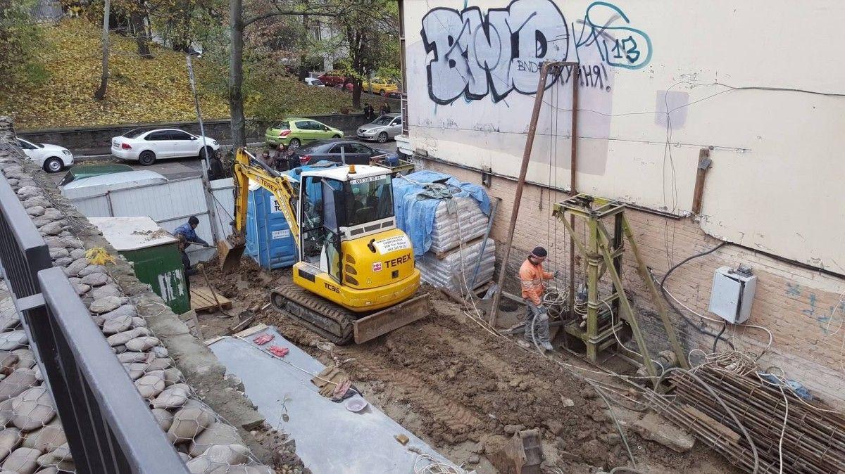 Строительство на Круглоуниверситетской / фото kiev-ukr.segodnya.ua