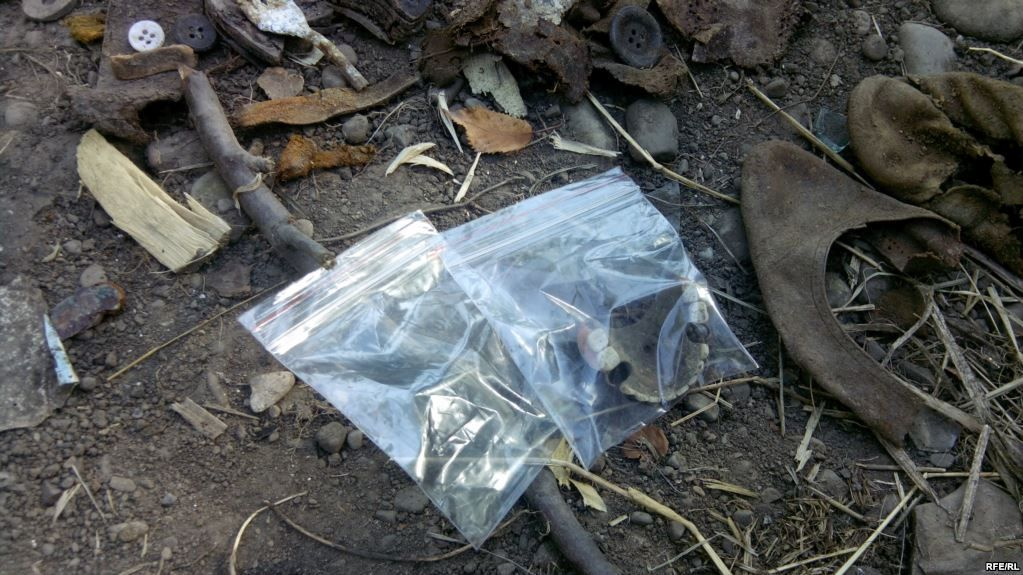 На місці знаходили людські кістки та предмети побуту / фото radiosvoboda.org