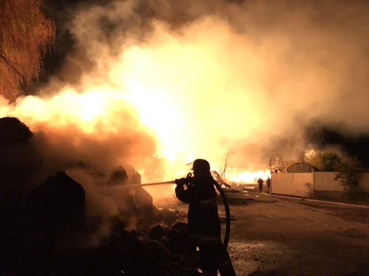 Рятувальники боялися можливого поширення вогню на нафтобазу / ДСНС
