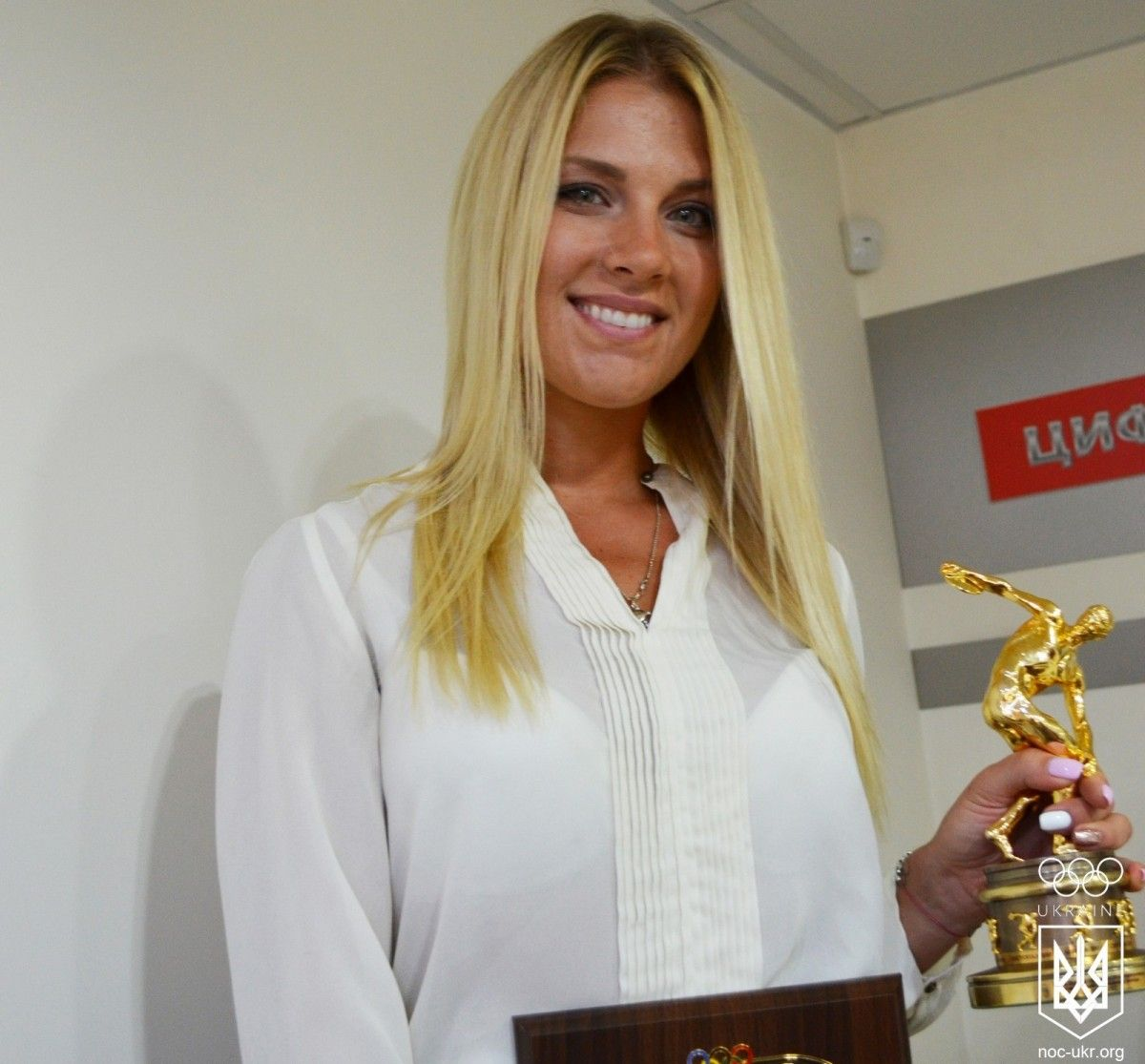 Харлан отримала ювілейну нагороду від НОК / noc-ukr.org