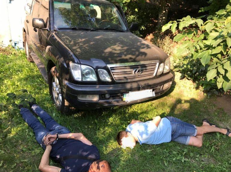 Затримані викрадачі авто / фото Twitter/Сергій Князєв