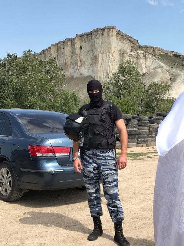 Російські силовики в Криму / Рефат Чубаров/Facebook