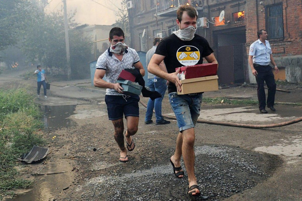 Із зони пожежі евакуйовано 560 осіб / varlamov.ru