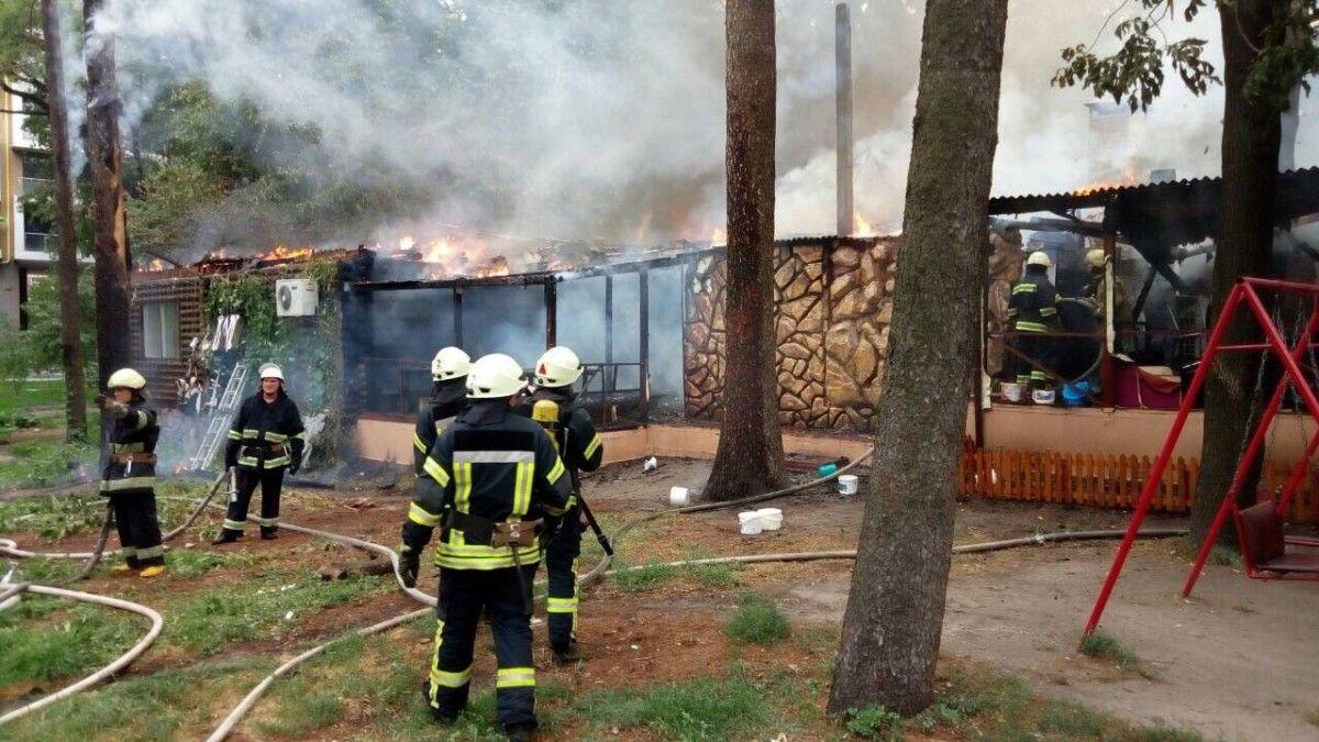 В Киеве горит ресторан / ГСЧС