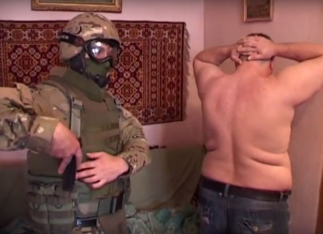 Злоумышленники по заданию террориста Мозгового планировали взорвать колею / Кадр из видео СБУ