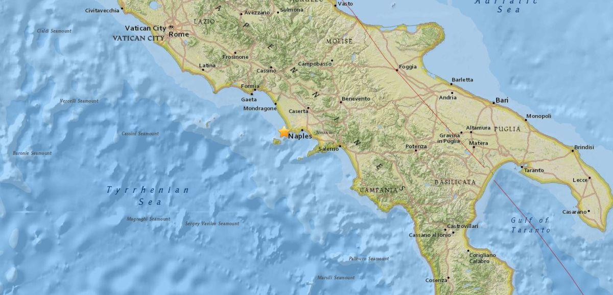Землетрясение произошло возле итальянского острова Искья / usgs.gov