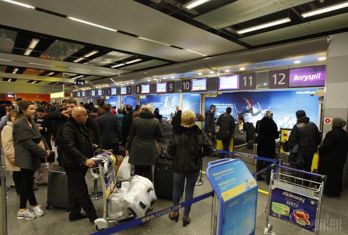 Свою роль сыграло развитие в последние годы крупнейшего аэропорта страны - «Борисполь» по стратегии авиационного хаба \ фото УНИАН
