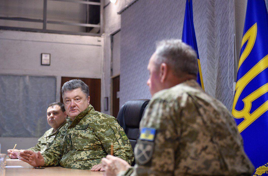 Порошенко в Краматорске провел совещание с военными / twitter.com/poroshenko
