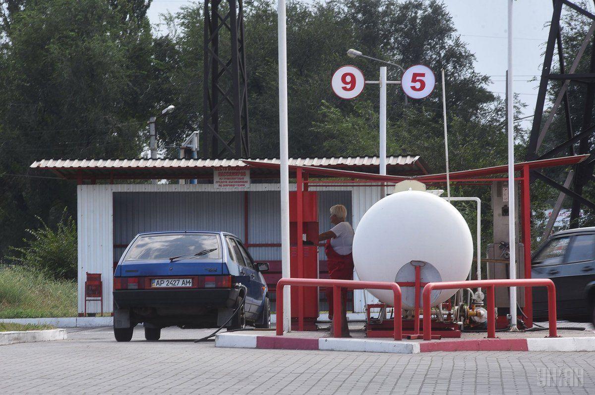 Средняя стоимость сжиженного газа на АЗС снизилась до 11,03 грн/л. / фото УНИАН