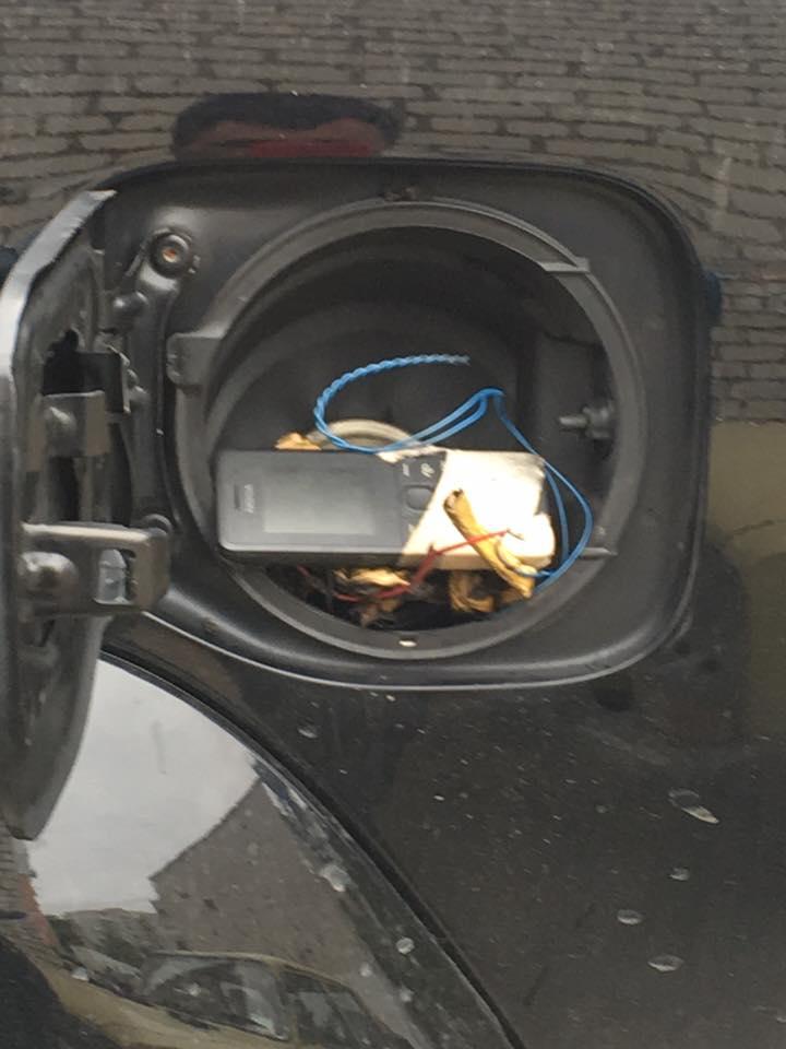 Обнаруженное взрывное устройство / фото facebook.com/d.jvavyj