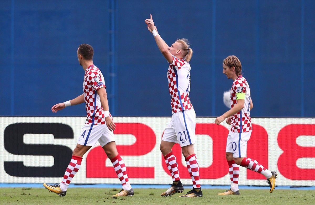 Гол Домагоя Види приніс перемогу Хорватії / Reuters