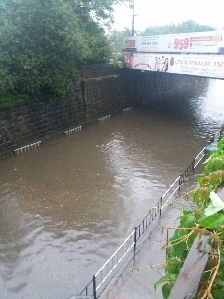 Потужна злива в Івано-Франківську / 0342.ua