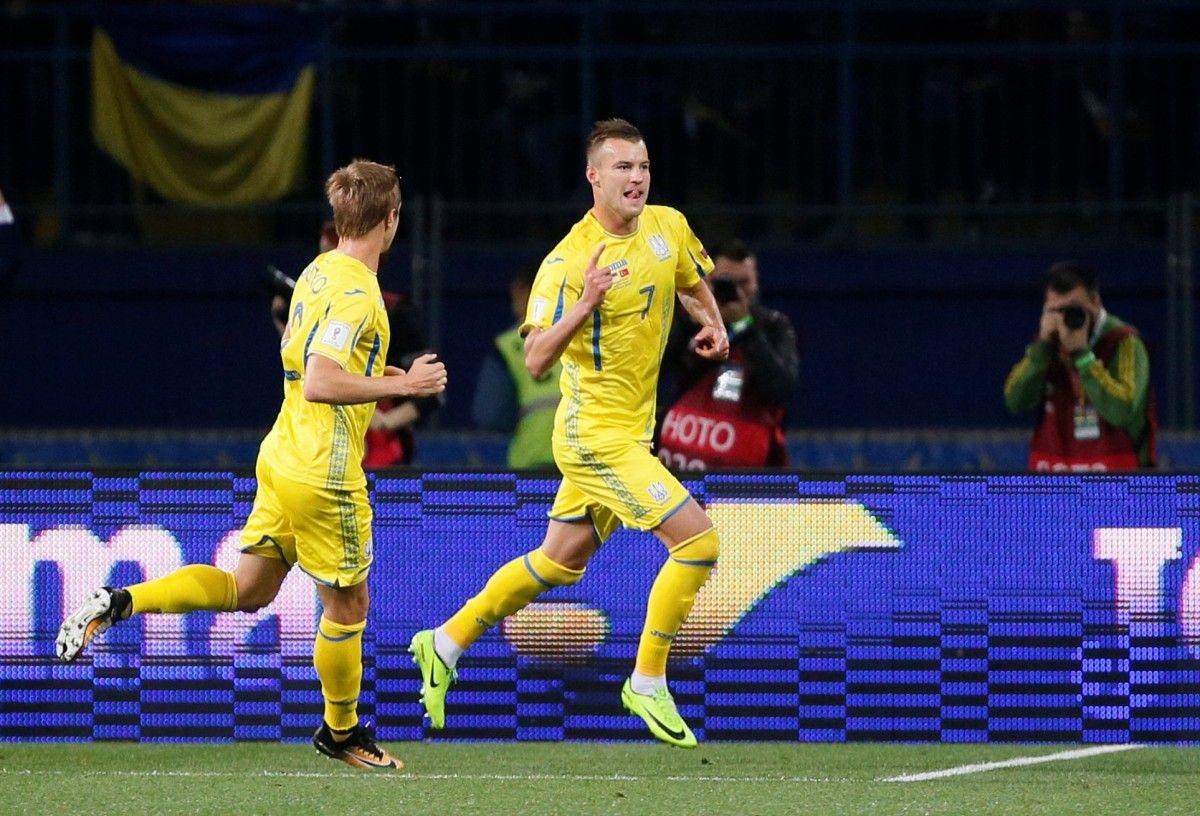 Ярмоленко сделал дубль в матче сборной Украины / Reuters