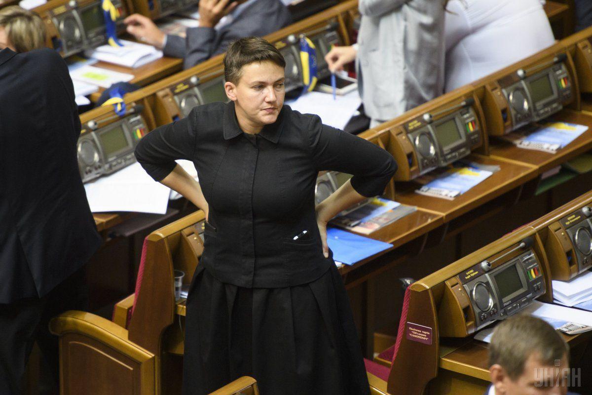 Надежда Савченко в Раде / фото УНИАН