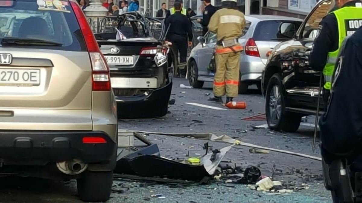 Поліція розповіла про вибух у центрі столиці / фото УНІАН