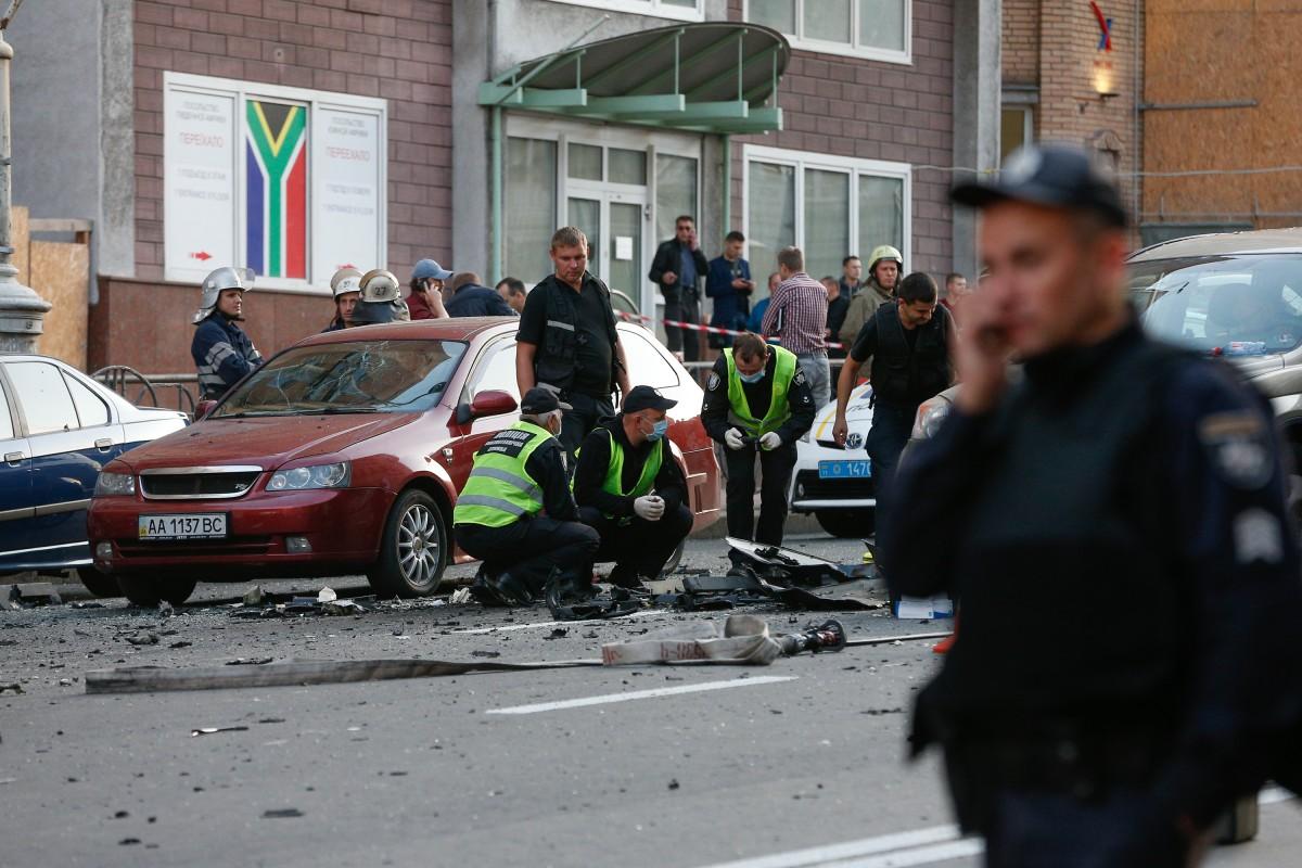 В результаті вибуху авто загинув боєць чеченського батальйону / фото Володимир Гонтар, УНІАН