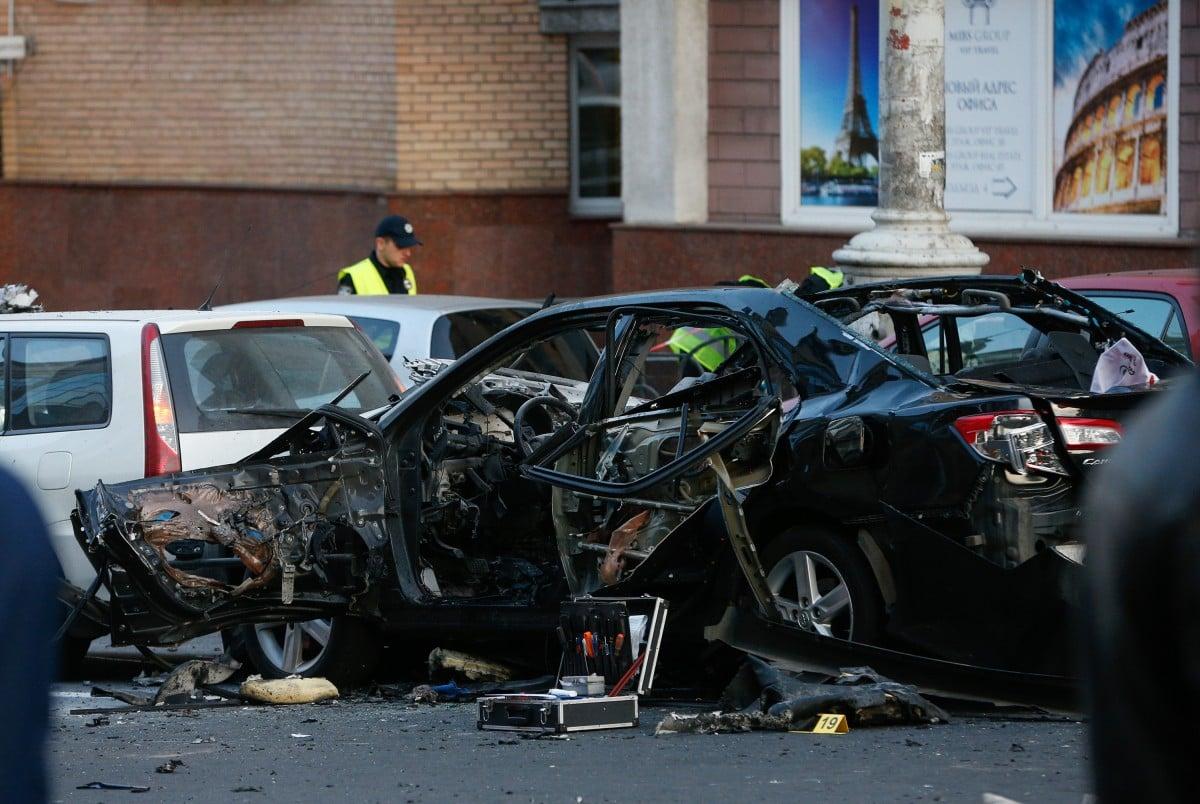 В итоге взрыва вцентре украинской столицы умер чеченский доброволец Махаури