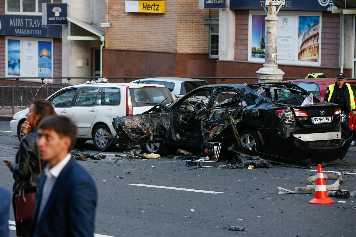 В результате взрыва погиб один человек / Фото Владимир Гонтарь, УНИАН