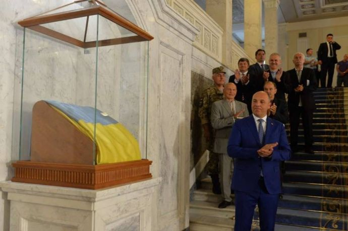 На экспозицию украинского флага потратили более миллиона гривен / фото Украинская правда